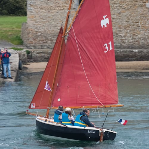 'Breeze', voilier Cornish Crabber, durant la Semaine du Golfe